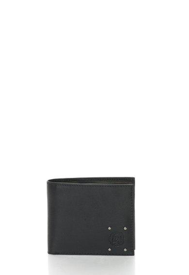 FashionDays.ro: Portofel pliabil negru din piele cu tinte Hires Diesel