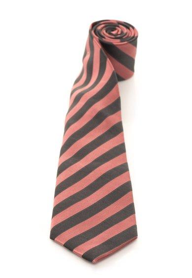 FashionDays.ro: Cravata roz prafuit cu gri inchis de matase cu dungi Vincenzo Boretti