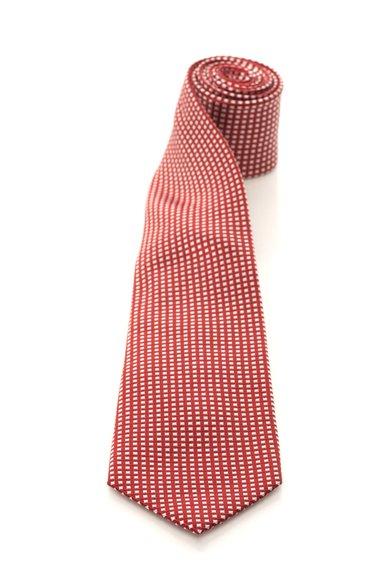 FashionDays.ro: Cravata rosu Bordeaux cu alb de matase in carouri Vincenzo Boretti