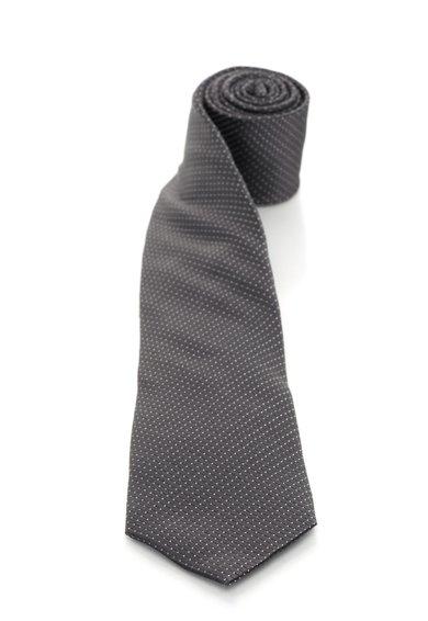 FashionDays.ro: Cravata gri inchis de matase cu buline albe Vincenzo Boretti