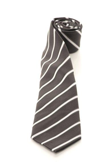 FashionDays.ro: Cravata gri cu alb de matase cu dungi Vincenzo Boretti