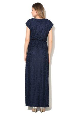 Rochie maxi bleumarin de dantela