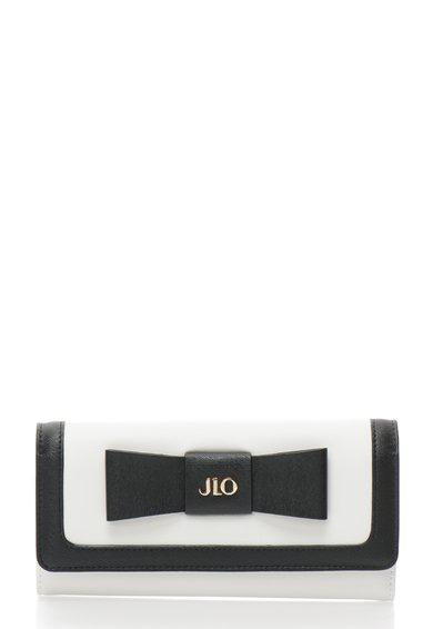 FashionDays.ro: Portofel alb si negru si cu funda JLo by Jennifer Lopez
