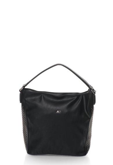FashionDays.ro: Geanta hobo neagra cu detalii metalice JLo by Jennifer Lopez