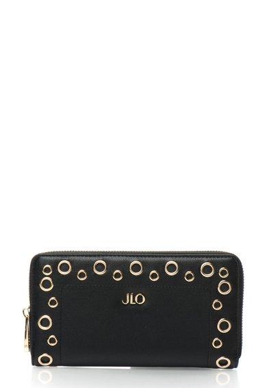 FashionDays.ro: Portofel negru cu fermoar si detalii aurii JLo by Jennifer Lopez