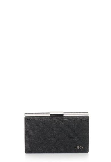 FashionDays.ro: Geanta plic minaudière neagra stralucitoare cu bareta lant JLo by Jennifer Lopez